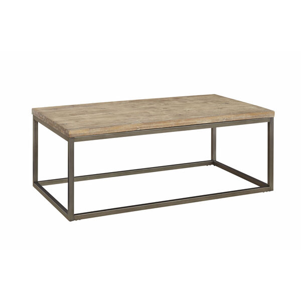 Julien Rectangle Coffee Table with Acacia Wood Top, image 1