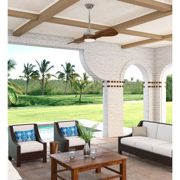 Milstream Brushed Nickel 56-Inch One-Light LED Ceiling Fans, image 2