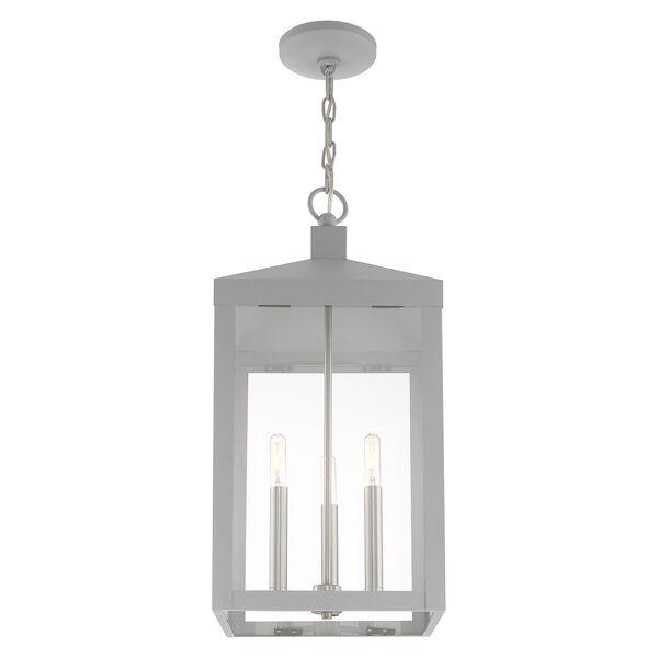 Nyack Nordic Gray 11-Inch Three-Light Pendant Lantern, image 4