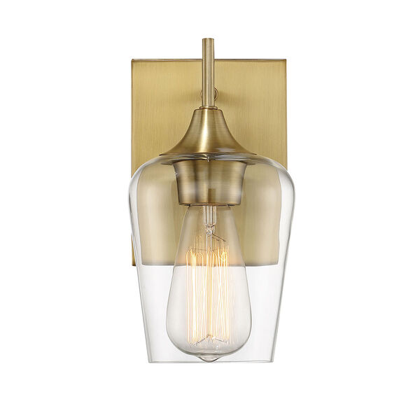 Octave Warm Brass One-Light Wall Sconce, image 1