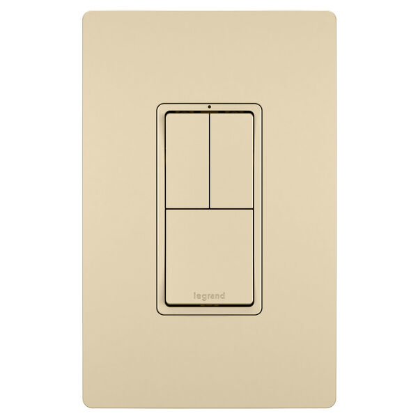 Ivory Two Single Pole Switches and Single Pole 3-Way Switch, image 2