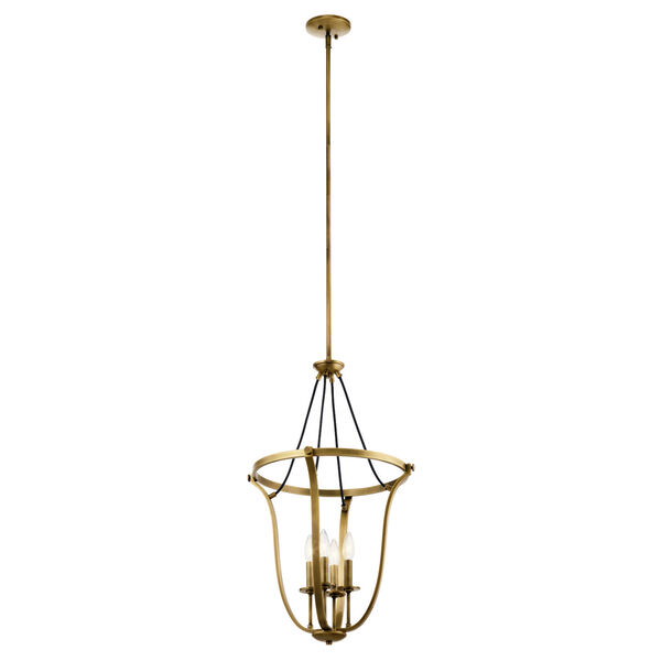 Thisbe Natural Brass 18-Inch Four-Light Chandelier, image 1