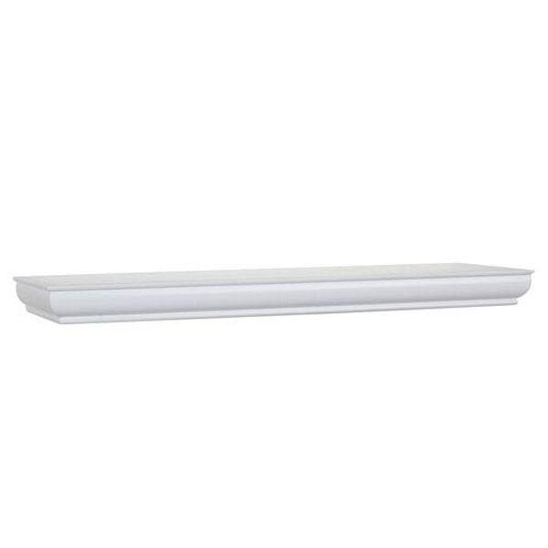 White Floating Shelf, 8 x 36 x 1.75-Inches, image 1