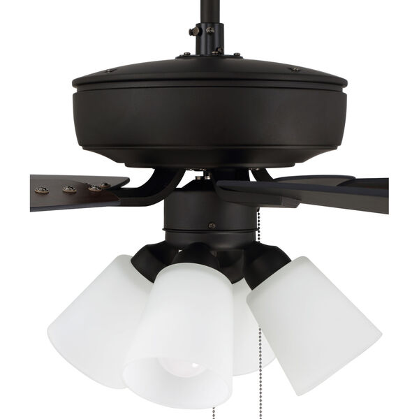 Pro Plus Espresso 52-Inch Four-Light Ceiling Fan with White Frost Bell Shade, image 7