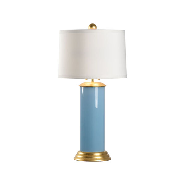 Savannah Turquoise, Gold and White Two-Light Table Lamp, image 1