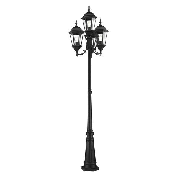Hamilton Textured Black Four-Light Outdoor Post Lantern, image 4