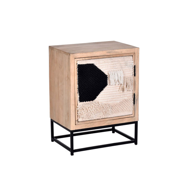 Layover Tan and Black 13-Inch Nightstand, image 2