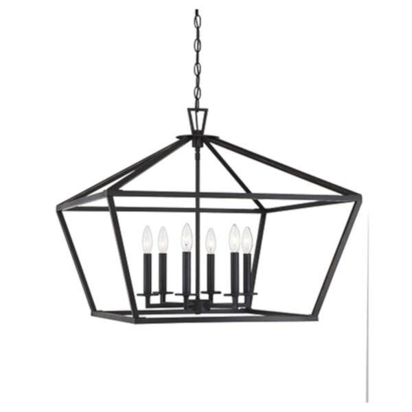 Kenwood Classic Bronze Six-Light Lantern Pendant, image 1