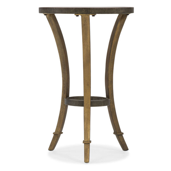 Gold Round Accent Martini Table, image 1