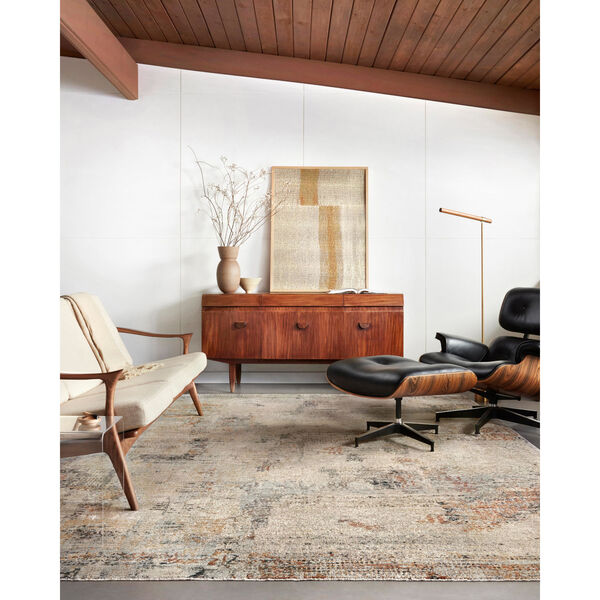 Axel Sand, Spice and Blue Area Rug, image 2