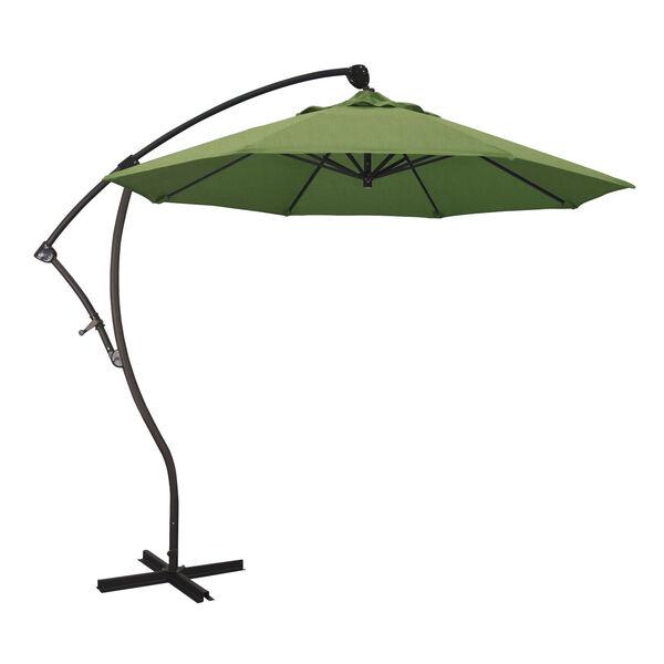 Bayside Bronze with Spectrum Cilantro Nine-Feet Sunbrella Patio Umbrella, image 1