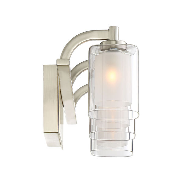 Kolt Brushed Nickel LED Three-Light Bath Light, image 4