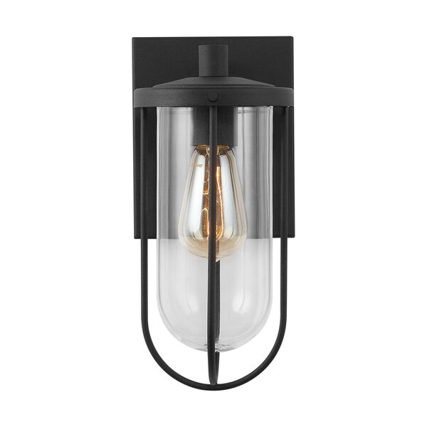 Corbin Black Six-Inch One-Light Outdoor Wall Lantern, image 1