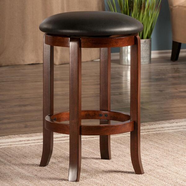 Walcott Walnut and Black Swivel Seat Counter Stool, image 6