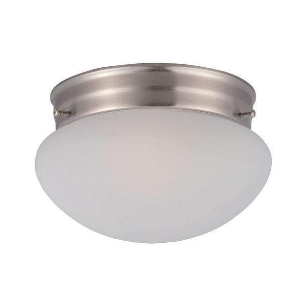 Essentials - 588x Satin Nickel One-Light Flushmount, image 1