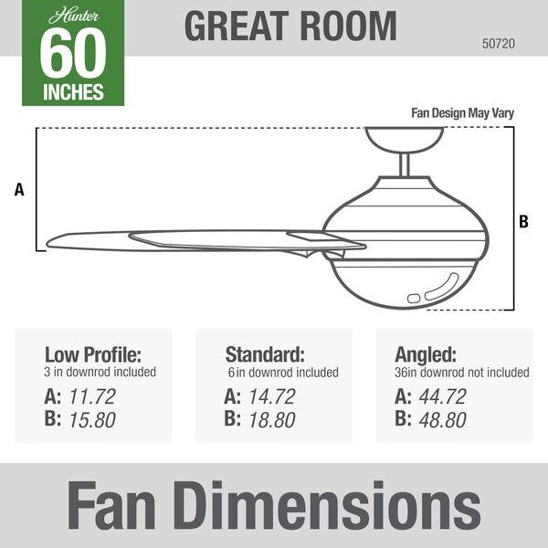 Overton Matte White 60-Inch Two-Light DC LED Ceiling Fan, image 5