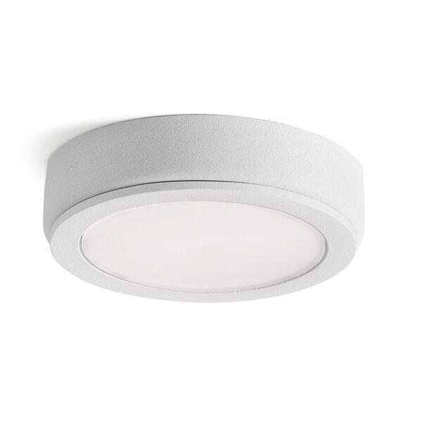 6D Series Textured White 24V DC 2700K LED Undercabinet Puck Light, image 1