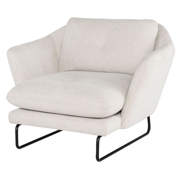 Frankie Parchment and Black Occasional Chair, image 5