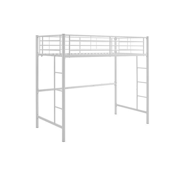 Sunset White Metal Twin Loft Bunk Bed, image 2
