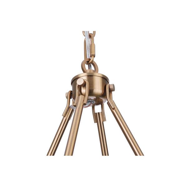 Larrson Satin Brass Six-Light Chandelier, image 6