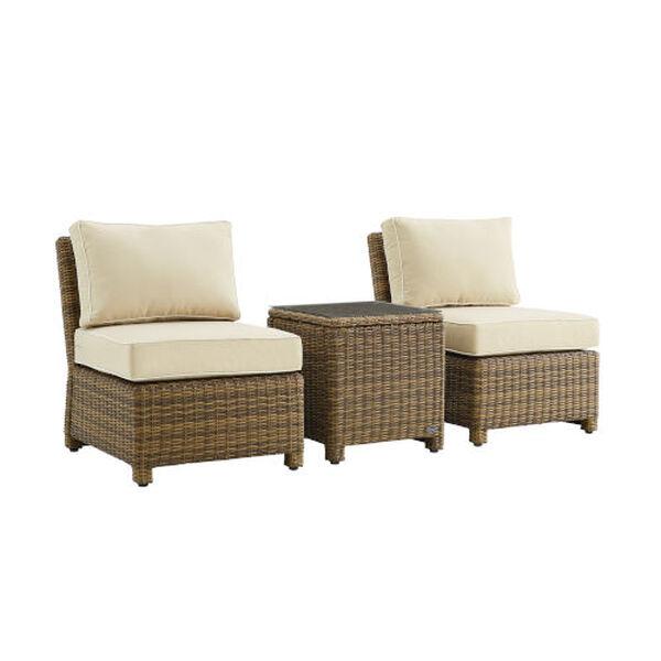 Bradenton Sand Weathered Brown Three-Piece Outdoor Wicker Chair Set, image 3