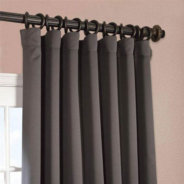 Charcoal 96 x 100-Inch Double Wide Blackout Curtain Single Panel, image 2