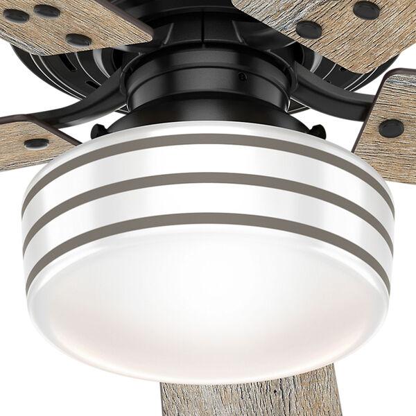 Cedar Key Matte Black 52-Inch One-Light LED Ceiling Fan, image 3