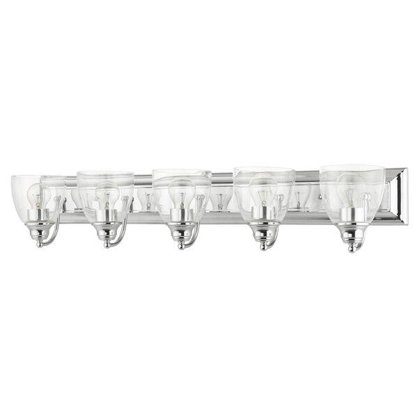 Birmingham Polished Chrome Five-Light Bath Vanity Sconce, image 2