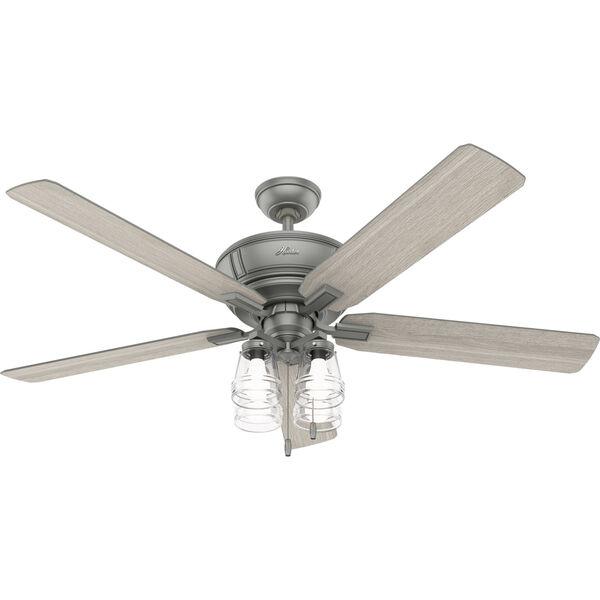 Grantham Matte Silver 60-Inch Ceiling Fan, image 1