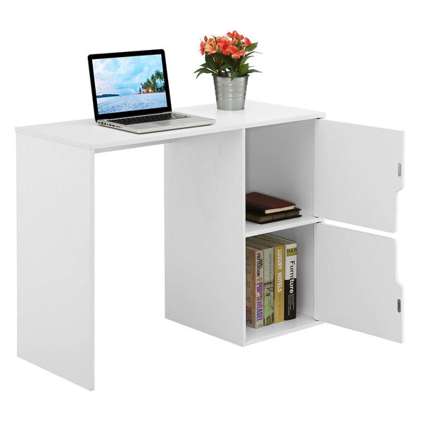 Designs2Go White Student Desk with Storage Cabinets, image 4