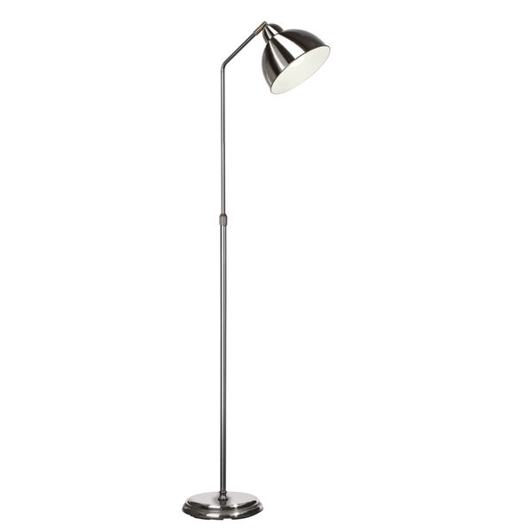 Covington Brushed Nickel LED Floor Lamp, image 1