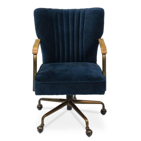 Blue Brooks Swivel Upholsterd Chairs, image 2