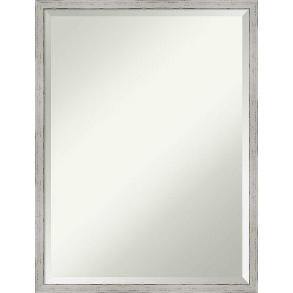 Shiplap White 19W X 25H-Inch Bathroom Vanity Wall Mirror, image 1