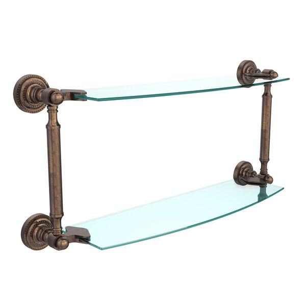 Dottingham Venetian Bronze 18 Inch x 5 Inch Double Glass Shelf, image 1