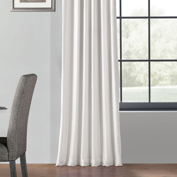 Ice 120 x 50 In. Blackout Vintage Textured Faux Dupioni Silk Curtain Single Panel, image 5