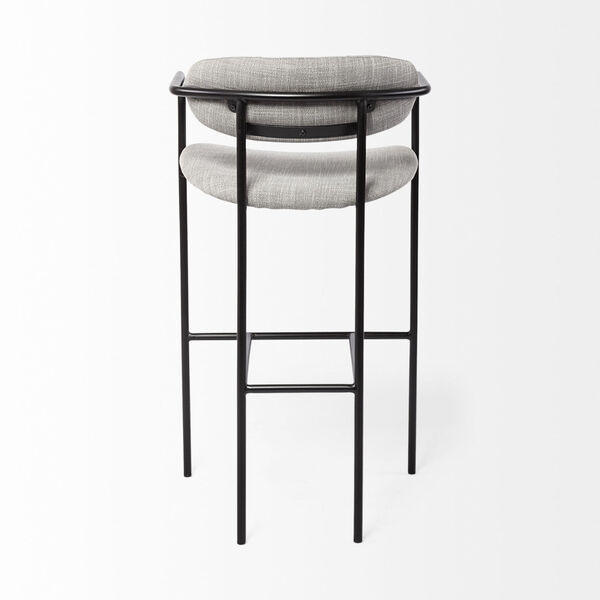 Parker Gray and Black Bar Height Stool, image 4