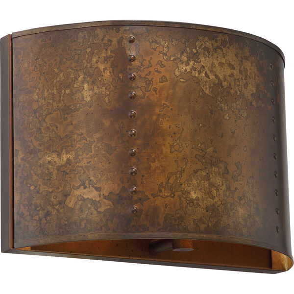 Kettle Weathered Brass One-Light Vanity, image 1