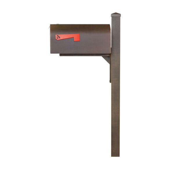 Titan Steel Curbside Copper Mailbox and Wellington Mailbox Post, image 3