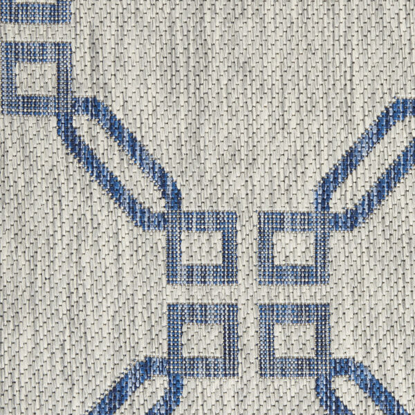 Garden Party Blue and Ivory 7 Ft. x 10 Ft. Indoor/Outdoor Rectangle Area Rug, image 6