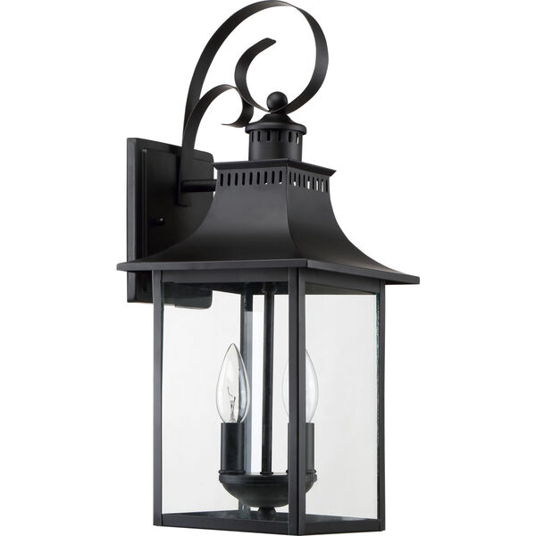 Chancellor Mystic Black Two-Light Outdoor Wall Sconce, image 2