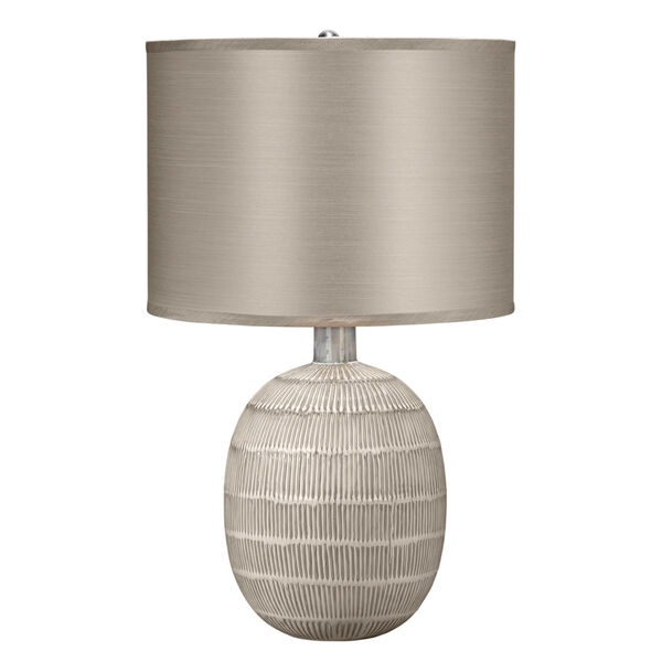 Prairie Beige and Off White One-Light Table Lamp, image 1