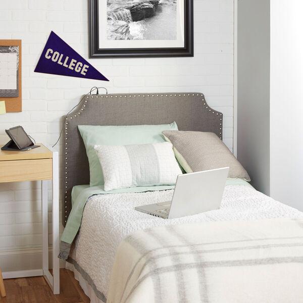 Cypress Headboard in Light Grey, Twin, image 1