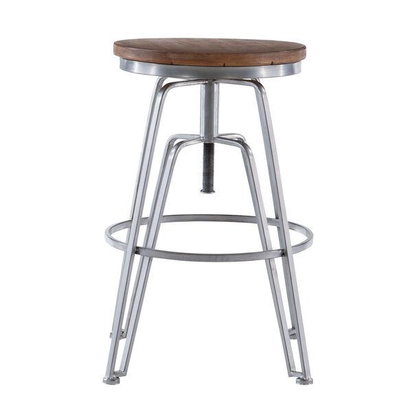 Rowan Silver Adjustable Bar Stool, image 3