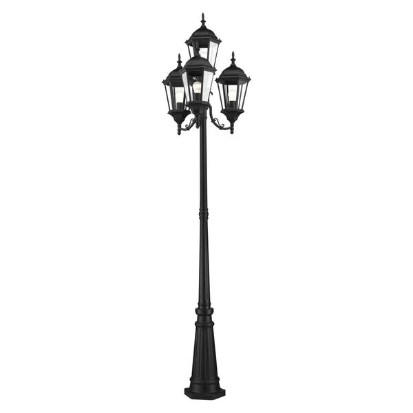 Hamilton Textured Black Four-Light Outdoor Post Lantern, image 5