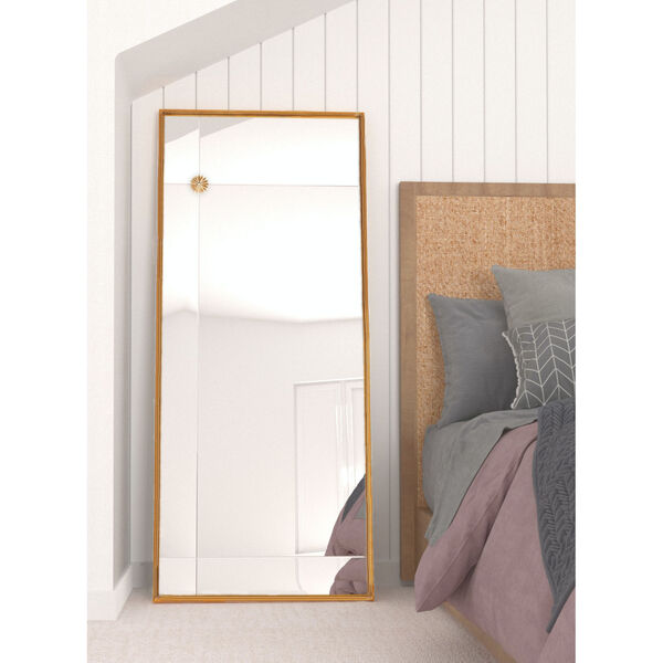 Pamela Antique Gold 71-Inch x 30-Inch Floor Mirror, image 1