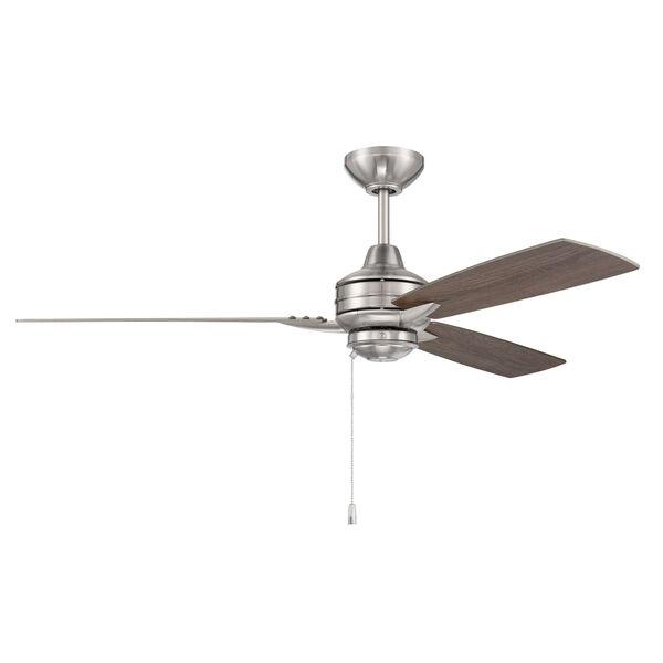 Moto Brushed Polished Nickel 52-Inch Ceiling Fan, image 2