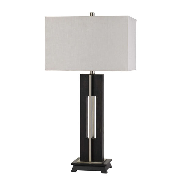 Glenview Black and White One-Light Table lamp, image 1