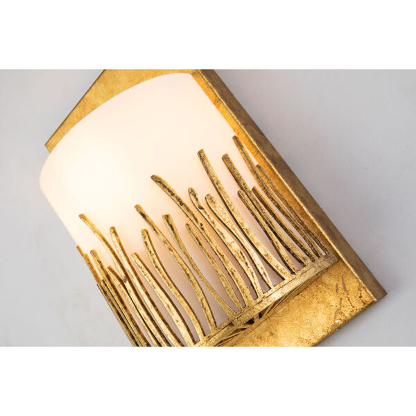 Sawgrass Gold Leaf with Antique One-Light Wall Sconce, image 5