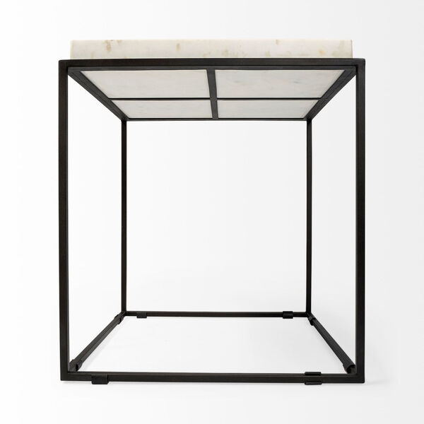 Nathan II Black and White Square Top End Table, image 5