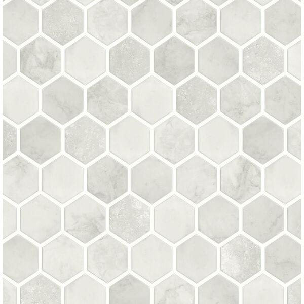 NextWall Inlay Hexagon Peel and Stick Wallpaper, image 2